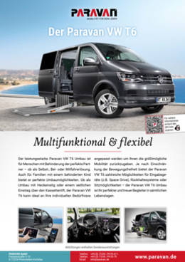 Product sheet Paravan VW T6