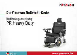 Paravan User's manual PR Heavy duty