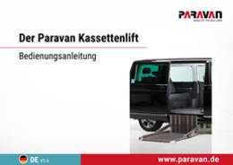 Paravan User's manual cassette lift