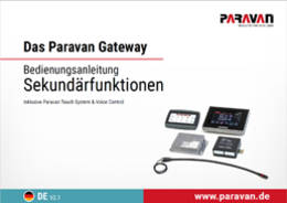 Paravan maintenance booklet Space Drive secundary functions