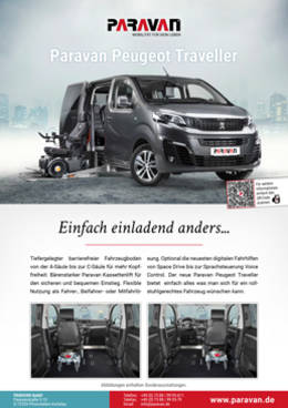 Product sheet Paravan Peugeot Traveller