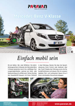 Product sheet Paravan Mercedes Benz V-Class