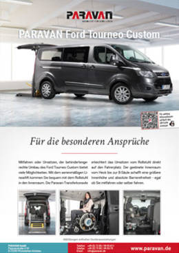Flyer Paravan Ford Tourneo Custom