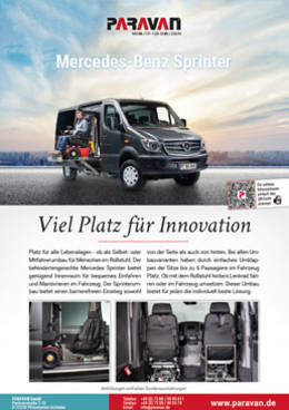 Product sheet Paravan Merceds Benz sprinter