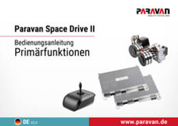 Paravan User's manual Space Drive primary functions