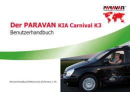 Paravan User's manual  KIA Carnival K3